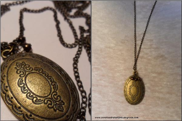 .~ Sautoir vintage médaillon - [ www.creationPateFIMO.skyrock.com ] .