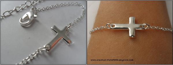 .~ Bracelet Croix - [ www.creationPateFIMO.skyrock.com ] .