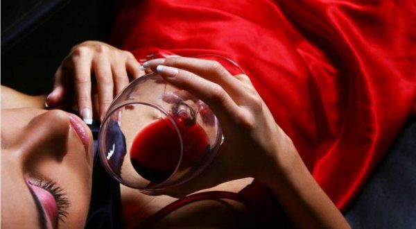 Gouttes de vin.