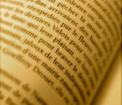 Voyage sur une page de livre