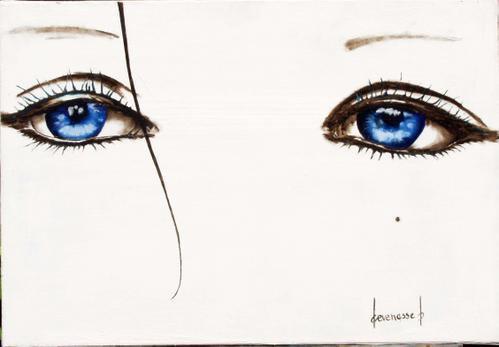 La femme au regard bleu océan