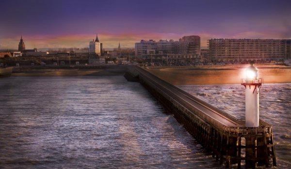 Lever de soleil sur Boulogne-sur-Mer