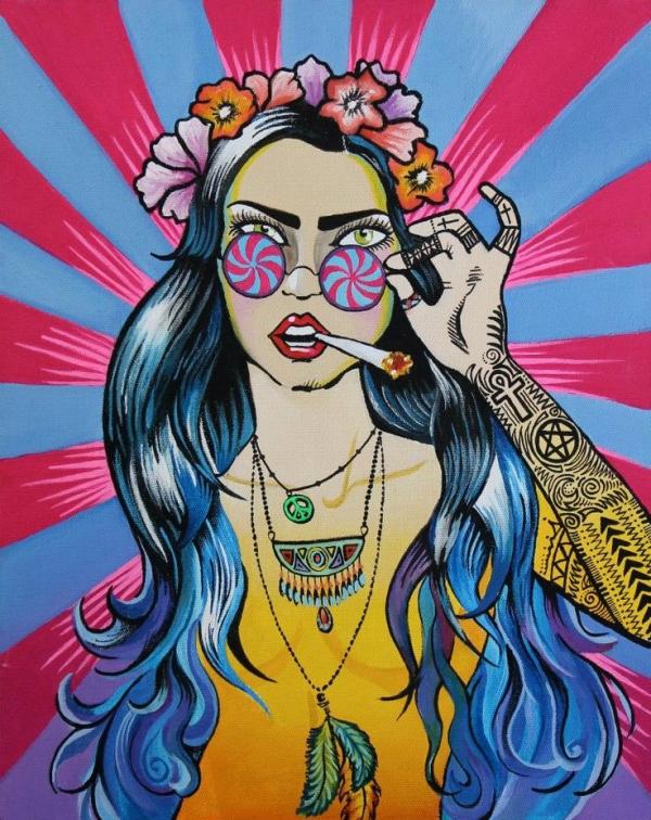 Une hippie devenue sage avec le temps
