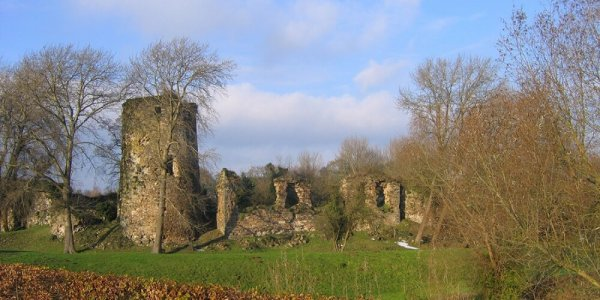 Au château de Walhain avec Yvonne