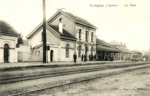 Une gare à Montigny-sur-Sambre