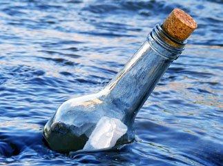 Jeter une bouteille à la mer