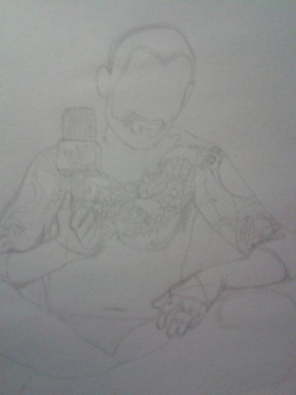 Nouveau dessin de CM Punk ! :)