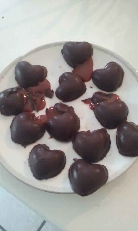 Premier fois je fait des chocolats ^^