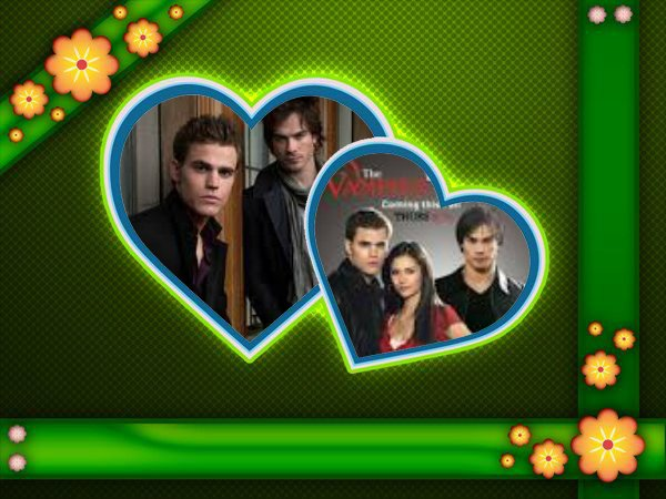 demon salvatore & stefan salvatore & elena gilbert