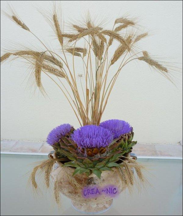 Artichauts en fleurs