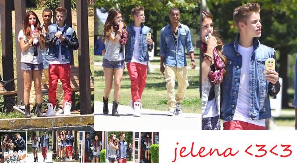 le 29/06 : photos de Jelena se promenant près d'un lac en mangeant une glace
