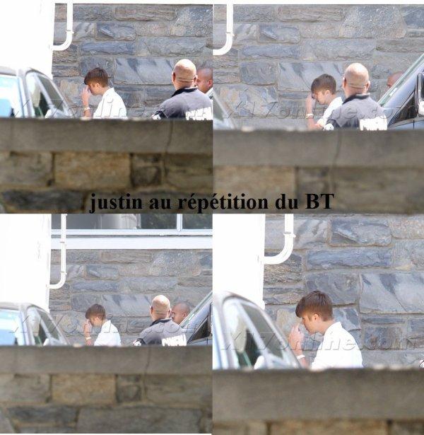 Justin Bieber au répétition du BT le 07.08.12