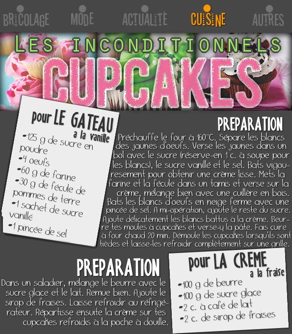 Les inconditionnels cupcakes.
