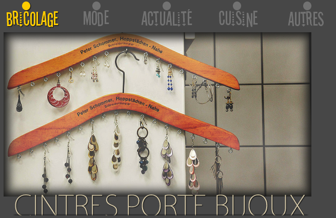 Cintres porte-bijoux