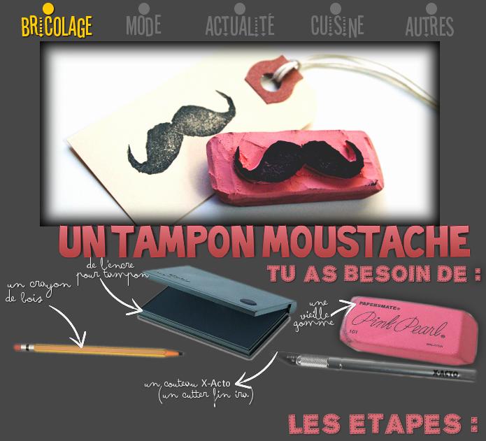 Un tampon moustache