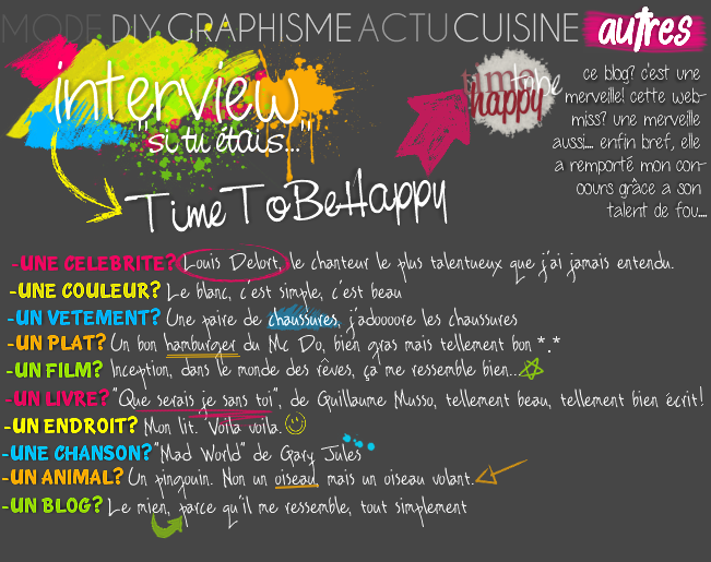 AUTRES : Interview TimeToBeHappy