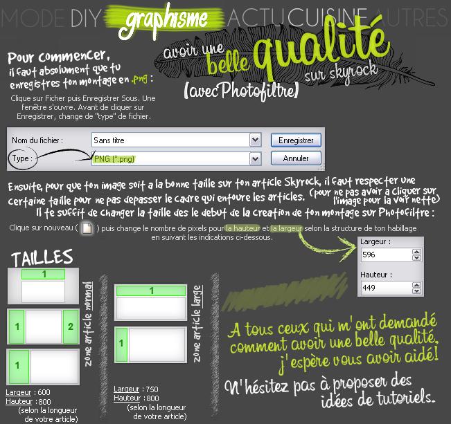 GRAPHISME : La qualité de Photofiltre