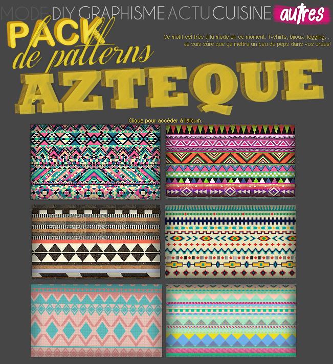 AUTRES : Pack Patterns Aztèques