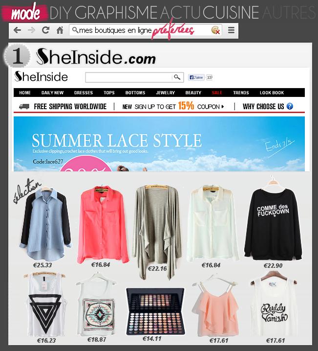 MODE : Mes boutiques en ligne préférées