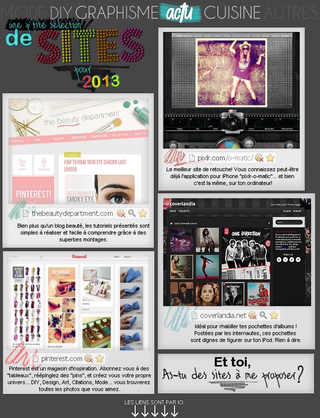 ACTUALITE : Sites pour 2013