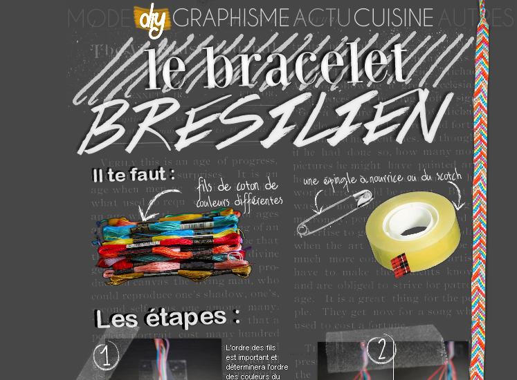 DIY : Le bracelet brésilien chevron