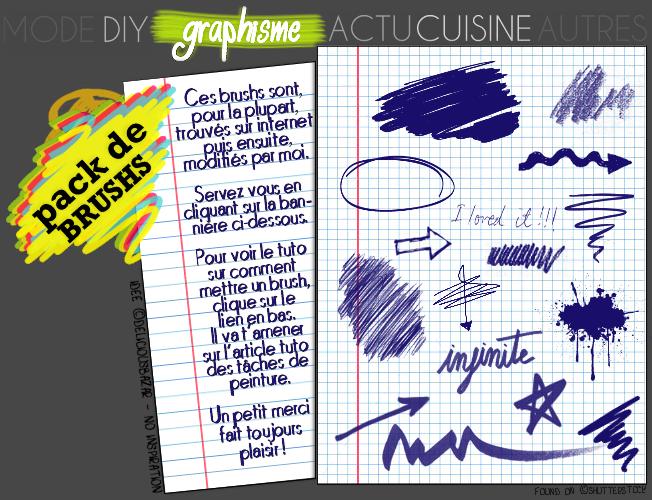 GRAPHISME : Pack de brushs