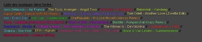 ACTUALITE : Playlist été