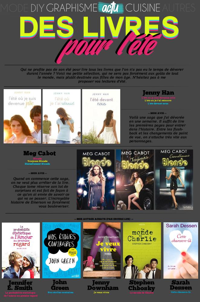 ACTUALITE : Livres pour l'été