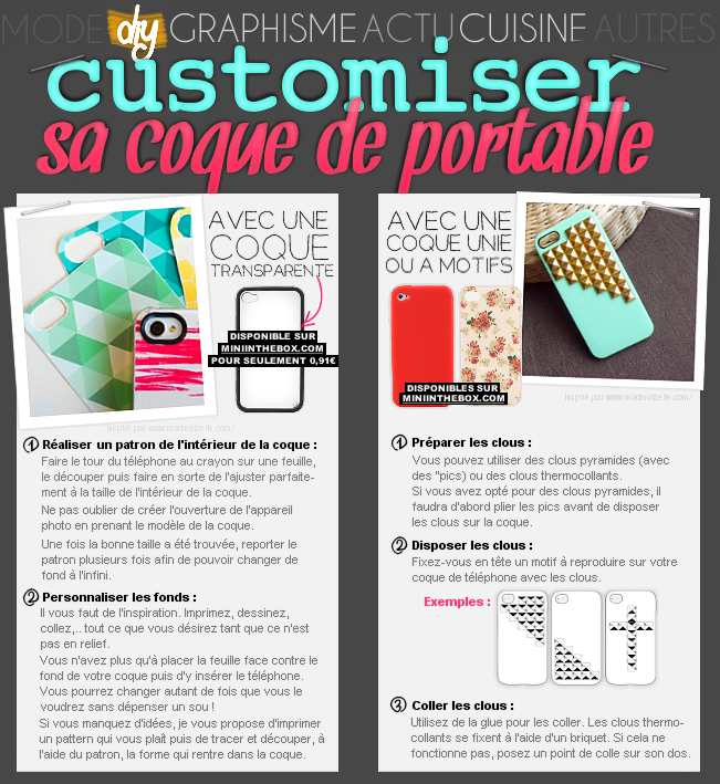 DIY : 2 façons de customiser sa coque de portable