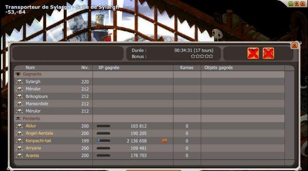 Sylargh 5 vs 5 double mort Donjon non validé pour la sadi :( !
