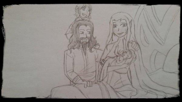 Chapitre 1 : La rencontre d'une Elfe et d'un Nain et naissance !