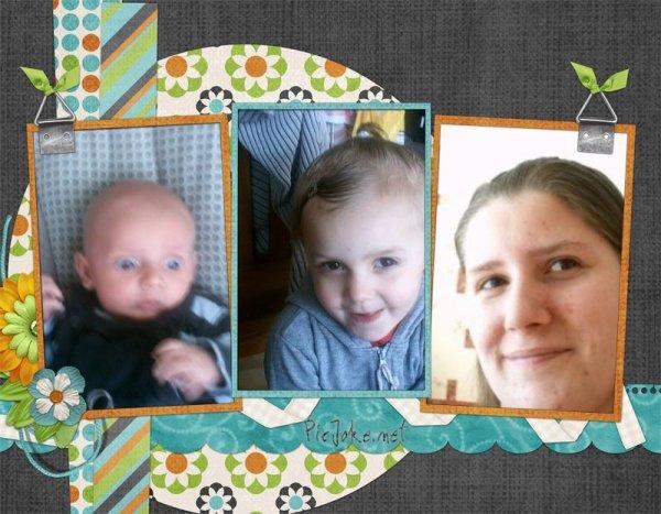 ma femme et mes deux enfants