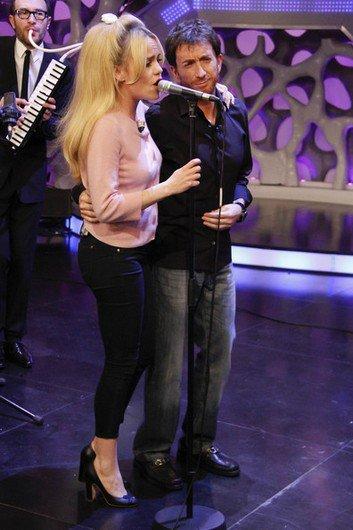 """Duffy a fait une apparition à la télévision espagnole dans l'émission """"El Hormiguero""""."""