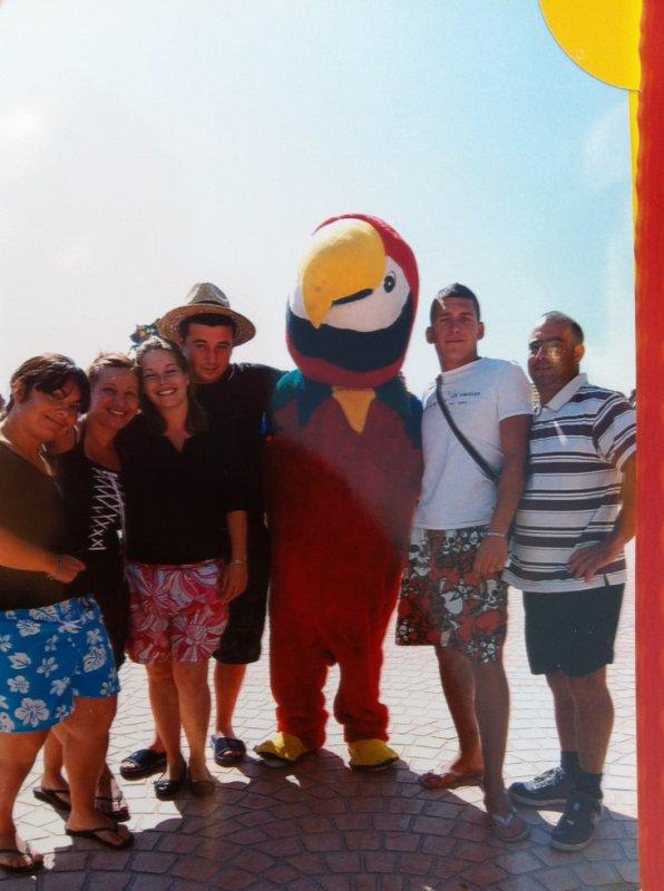 nous à Aqualand le 7/07/2012