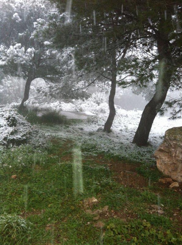 neige à Sète le 16 Janvier 2013