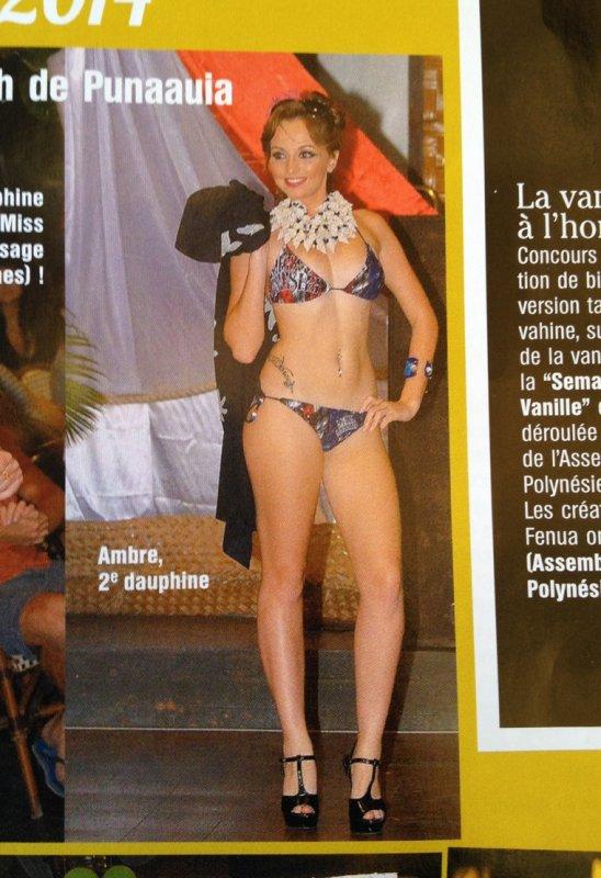 2ème dauphine à l'élection Miss Popa'a 2014 ( miss blanche à Tahiti )