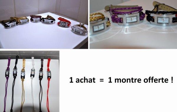 1 Achat = 1 Montre offerte