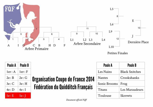 Les poules de la coupe de France