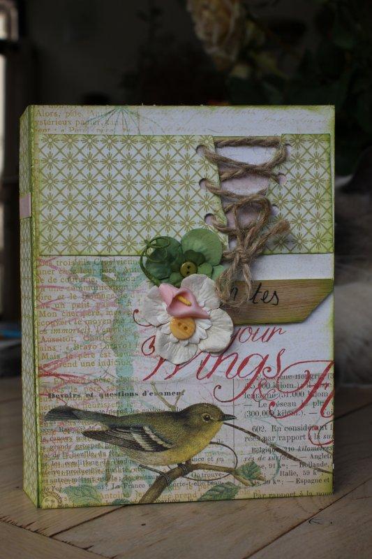 "bloc note ""oiseau"""