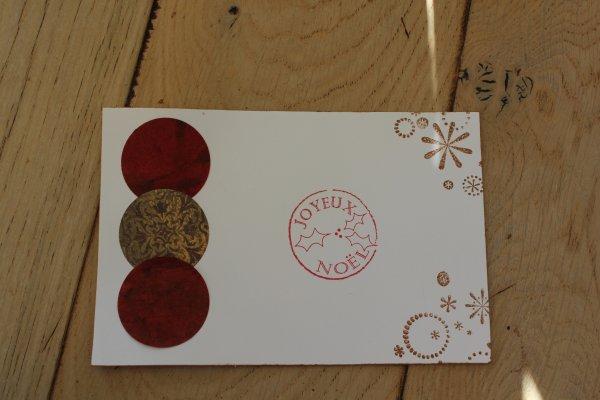 petites cartes reçues à Noel