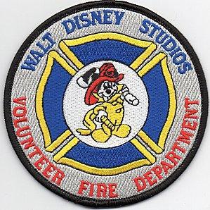écusson des pompiers privés des studios WALT DISNEY, aux USA,