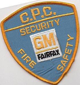 écusson des pompiers privés de l'usine GM (GENERAL MOTORS), à Fairfax, USA