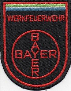 Ecusson des pompiers privés d'une des usines BAYER en Allemagne