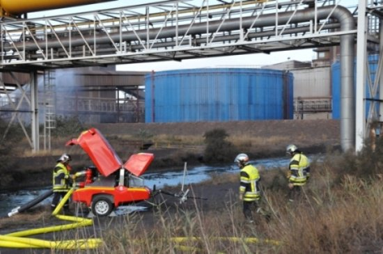pompiers Arcelor sidérurgie