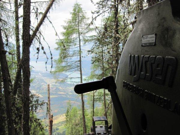 quel belle vue sur le lac depuis le treuil!!!!