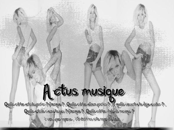 Actus musique