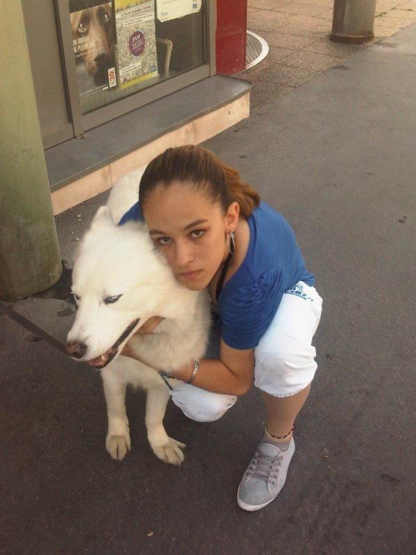 <3 cécé et moi un amour de chien <3