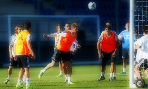 18 octobre 2013 « Ultime entrainement pour préparer le match de Liga contre Málaga