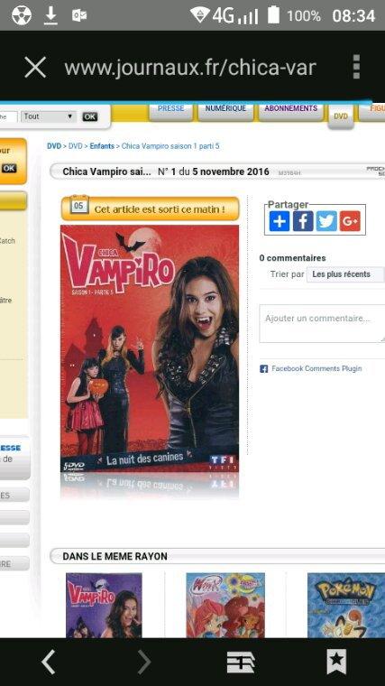 Les deux derniers dvd de chica vampiro