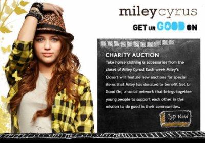 Miley Cyrus eBay Auction Miley Cyrus aux enchères eBay